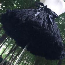 Women Lolita Petticoat Crinoline Underskirt Rockabilly Swing Tutu Skirt Goth US