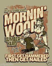 BIG JOHNSON Mornin' Wood  Tee Hilarious T-Shirt Big Johnson's T'shirt