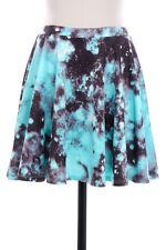 Cosmic Skater Skirt - Blue Galaxy - Above Knee
