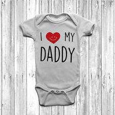Amo il mio papà BABY GROW Tuta Gilet Carino Cuore 0-18 mesi