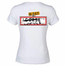 Tee shirt Blanc femme Corse dessin dans le dos