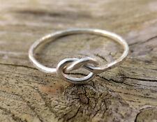Handmade Sterling Silver 1mm Dainty Knot Ring