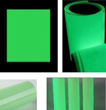 90€m² Leucht folie Bastelfolie nachleuchtend neon fluoreszierend Bastel bogen
