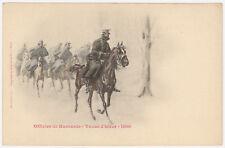 CPA OFFICIER DE HUSSARDS, TENUE HIVER, 1900, MALESPINE