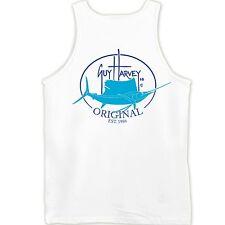 Guy Harvey Original Fin White Fishing Boat Beach Tank Top. Pick Size..Fast Ship