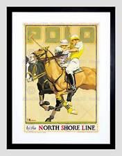 TRAVEL riva settentrionale linea ferroviaria Polo Sport Cavallo FRAMED ART PRINT b12x7335