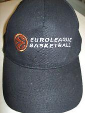 Euroleague Basketball Casquette Bonnet Fermeture adhésive NEUF