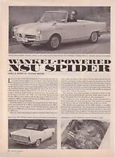 1965 NSU Wankel Spider Road Test & Technical Data