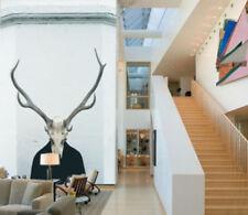 3D Deer Head Icon Pattern Wall Paper Wall Print Decal Wall Deco AJ WALLPAPER