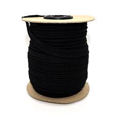 10mm Black Cotton Edging Trimming Piping Ribbon Trim Lame Sewing Crafts 1m C332