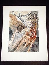 "Salvador Dali - Divine Comedy Woodcut ""Recontre de Deux Troupes"" - Purgatory #26"