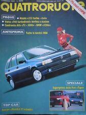 Quattroruote 388 1988 Ferrari Mondial32vv,Mazda320.Inserto Nissan Vanette Coach