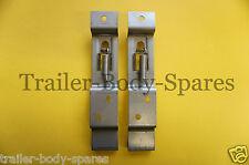 FREE UK POST- Stainless Steel Licence Number Plate Clip Holder - Trailer Caravan