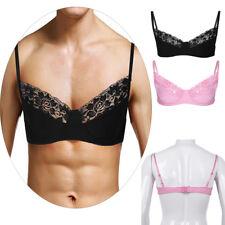 Sissy Men's Training Bra Adult Male Bra tops ladyboy Lace Wire-free Adjustable