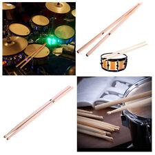 1/6 COPPIA 5A Drum Bacchetta ACERO di alta qualità LEGNO fusi percussioni strumento
