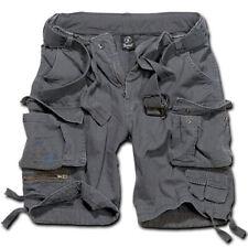 Pantalon Brandit 2001.5 Savage Short Vintage Bermuda Court avec Ceinture Gris