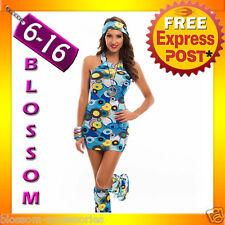I39 60s 70s Retro Hippie Girl Disco Dancing Groovy Fancy Dress Hens Costume