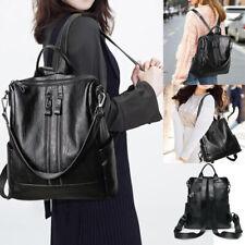 New Women Leather Travel Backpack Handbag Shoulder School Bag Rucksack Satchel
