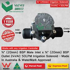 "3/4"" inch 20mm Inlet/Outlet Irrigation Solenoid Valve 24V AC 50LPM Watermark"
