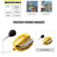 SpinnerBaits BOOYAH MICRO POND MAGIC Jaune-Noir Yellow-Black PIKE BLACK BASS ...
