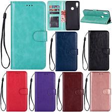 Classic Flip PU Leather Card Pocket Strap Kickstand S lot Case Cover Bumper