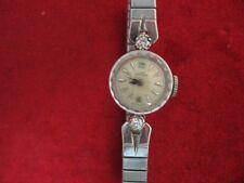 Vintage 14K  White Gold Ladies Girard Perregaux  Wristwatch - Diamonds