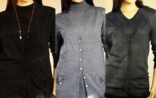 Twinset Twin-Set fein Damen Jacke Kurzarm Pullover grau schwarz hellgrau