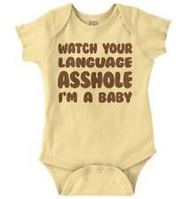 Watch Your Language Funny Shower Gift Idea Newborn Romper Bodysuit For Babies