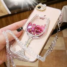 Bling pendant Crystal Glitter Diamonds Soft back Clear Cover Case For LG Phone