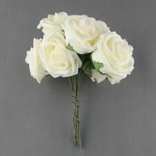 10 Pcs/ Bunch Beautiful Artificial Rose Flowers Wedding Bridal Bouquet Prom Rome