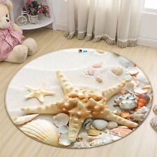 3D Shell Beach 5 Non Slip Rug Mat Room Mat Round Quality Elegant Photo Carpet CA