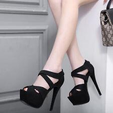 sabot ciabatte 11 cm eleganti  nero tacco quadrato sandali simil pelle 9937
