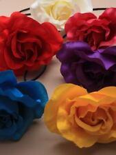 pelo rosa flor en colores a elegir en una Ultrafino Banda Para Fiesta