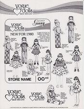 Matchbox-Händlerwerbevorlage Vogue Dolls 1979