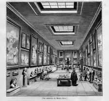 Stampa antica AIX-EN-PROVENCE museo Francia 1844 Ancien Gravure Old Print