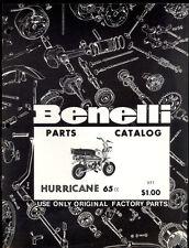 BENELLI 65cc HURRICANE MINI BIKE PARTS MANUAL / COMOPOLITAN MOTORS