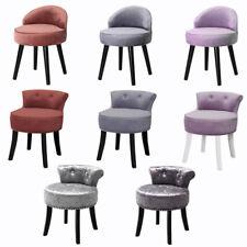 Retro Bedroom Dressing Table Stool Velvet/Crushed Velvet Makeup Piano Chair Seat