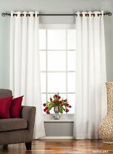 White Ring / Grommet Top  Velvet Curtain / Drape / Panel  - Piece