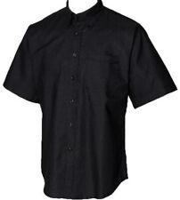 Henbury Button Down Collar Mens Short Sleeve Classic Cotton Oxford Fabric Shirt