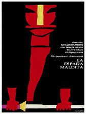 Espada maldita The forbidden sword Decor Poster.Graphic art Interior design 3510