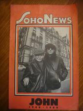 RARE! SOHO NEWS FLYER POSTER JOHN LENNON 1940 1980 John and Yoko THE Dakota
