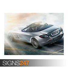 Mercedes Benz SLR McLaren Roadster (0791) cartel de auto-Poster Print A1 A2 A3 A4