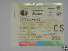 CATANIA - BARI TICKET BIGLIETTO 2003/04 SERIE  A
