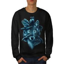 Wolf Spirit Ghost Animal Men Sweatshirt NEW | Wellcoda