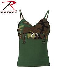 Rothco 8068 Womens 2-Tone Tank Top w/ Buckle - Woodland Camo