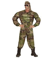 Costume Carnevale Uomo Divisa Militare Muscoli PS 22757