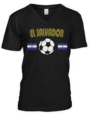 El Salvador National Soccer Team La Azul y Blanco Futbol  Mens V-neck T-shirt