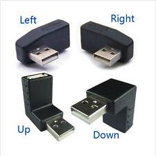 USB Male to Female Angled Adaptors 90 Degree 270 degree L Shaped USB Extension