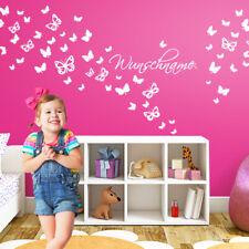 Wandtattoo Wandsticker Wandaufkleber Kinderzimmer Wunschname Schmetterlinge W786