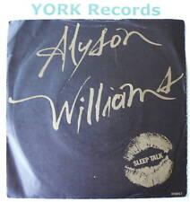"ALYSON WILLIAMS - Sleep Talk - Excellent Con 7"" Single"